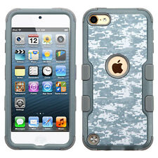For iPod Touch 5th 6th Gen Rubber IMPACT TUFF HYBRID Skin Case Phone Cover Camo