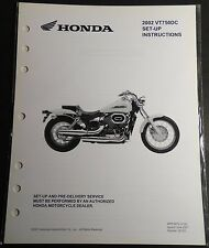 New listing 2002 Honda Motorcycle Vt750Dc Set-Up Pre-Delivery Instructions Manual (655)