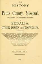 1882 PETTIS County Missouri MO, History and Genealogy Ancestry Family DVD B23