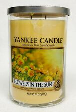 1 Yankee Candle FLOWERS IN THE SUN Large 2-Wick Tumbler Candle 22 oz