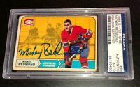 MICKEY REDMOND SIGNED 1968 O-PEE-CHEE CANADIENS ROOKIE CARD #64 PSA/DNA Auto RC