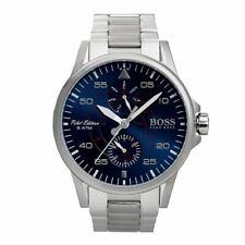 Hugo Boss Men's Watch Pilot Aviator Blue Dial Stainless Steel Bracelet 1513519