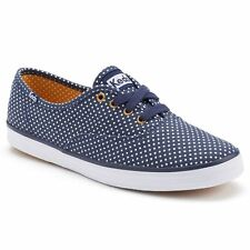 Keds Women's Champion Micro Dot Navy / White Oxford Shoes - Assorted Sizes