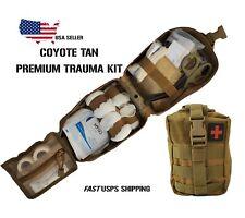 Tactical Molle First Aid Survival Emt Trauma Kit- Coyote Tan Premium Trauma Kit