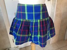 "Hollister Ladies / Girls Short Check Skirt Size 0 28"" Waist. Great Condition."