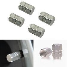 4PCS Silver Aluminium Car Tire Valves Decorate Covers Auto Accessories