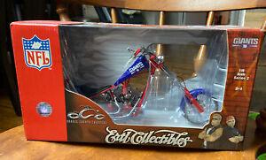 ERTL Orange Choppers GIANTS NFL NY 1:10 Scale 2005 Motorcycle Die cast Brand New