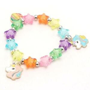 Kids Small Unicorn Star Shaped Stretch Bracelet Jewellery