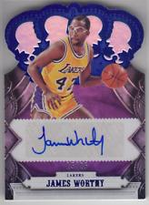 2017-18 Panini Crown Royale Lakers James Worthy Blue Autographs Auto 15/25