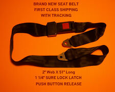 SEAT BELT LAP SAFETY BELTS ADJUSTABLE UNIVERSAL BUCKLE REPLACEMENT (NEW) 2 POINT