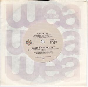 "VAN HALEN - DANCE THE NIGHT AWAY - RARE AUSTRALIA 7"" 45 VINYL RECORD - 1979"