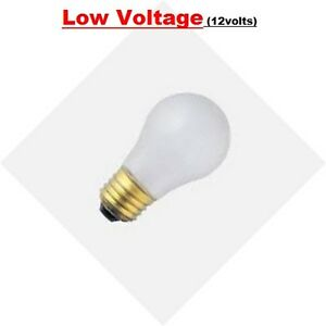 BULBRITE 15W 12V LOW VOLTAGE E26 BASE FROSTED INCAND A15 LIGHT BULB (PACK OF 6)