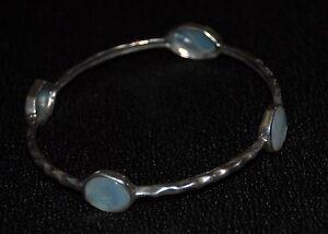 "SILPADA - B2383 - Mother-of-Pearl Glass Strlng Slvr ""Four Moons"" Bracelet - RET"