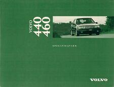 Volvo 440 & 460 1995-96 UK Market Specification Brochure Base S Si SE GLT CD