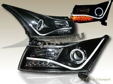 11-14 CHEVY CRUZE CCFL STRIP R8 STYLE HALO ANGEL EYE PROJECTOR HEADLIGHTS BLACK