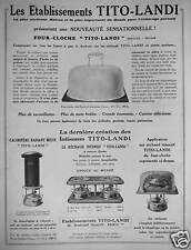 1931 tito landi advertising oven-bell rechaud stove radiant mixed
