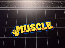 M.U.S.C.L.E. 1980s wrestling toys logo vinyl Decal / Sticker muscle men 80s toy