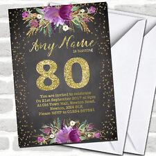 80th birthday invitations for sale ebay