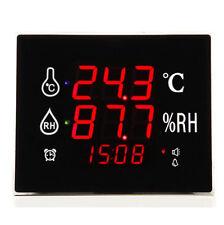 Digital Wall Mounted Large LED Screen Hygrometer Thermometer Monitor 220x180mmc