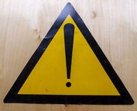 """WARNING DANGER PLACE Sign CCCP 14""""=35cm Plaque Metal Oil Plate Russian USSR 70's"""