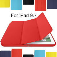 Genuine Magnetic Leather Smart Case Cover for iPad 2 3 4 Mini 4 Air Pro 7th 2019