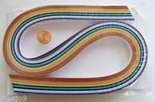 120 bandes de papier QUILLING 10mmx52cm 12 couleurs MIX4 Loisirs créatifs DIY