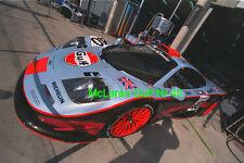 """LeMans Le Mans 24H McLaren F1 GTR Le Mans ´97 """"Gulf""""  original Foto 30cm x 40cm"""