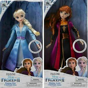 Disney - Elsa + Anna Singende Puppen - Die Eiskönigin 2 Frozen  (B)