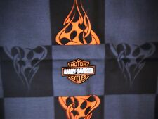Harley Davidson fabric  36x54 great for quilts or DIY Harley curtains/valance