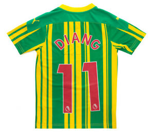 WBA 20/21 Away Signed Grady Diangana Shirt - 9-10 Years