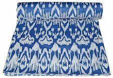 Blue Ikat Indian Handmade Prints Cotton Sewing 10 Yard Fabric Ladies Garments 01