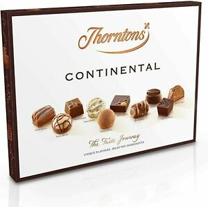 Thorntons Continental Set, White Milk & Dark Chocolates, 284 g, Box of 25 pcs