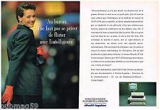Publicité Advertising 1988 (2 pages) Les Ordinateurs Olivetti Logabax