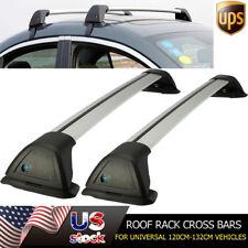 Universal 120cm-132cm Roof Rack Cross Bars Set Kayak Carrier & Lock System Pair