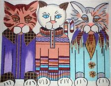 """KW 936 /""""Luther the Cat/"""" by TS Designs Hand Painted Needlepoint Canvas"""