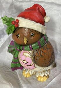 "Jim Shore ~ Owl Be Home ~ 5"" Christmas Figurine 2016"