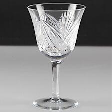 1 geschliffenes Vintage Weinglas Kristallglas Schliff Strahlen 14,5 cm K81