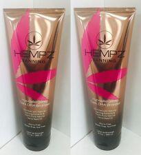 2 Hempz Hypoallergenic Dark DHA Bronzer Indoor Tanning Lotion 9.0 oz New