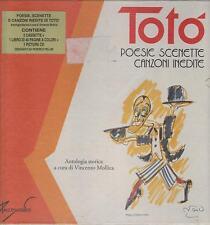 """TOTO' - BOX 2 MC + LIBRO + CD CELOPHANATO """" POESIE E SCENETTE,CANZONI INEDITE """""""