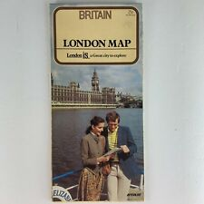 1982 London, Britain Map - Vintage Visitor's Guide, Maps, History