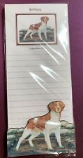 Brittany Spaniel Notepad and Wood Magnet