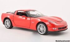 CHEVROLET CORVETTE C6 Z06 2007 rot  - 1:24 WELLY