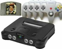 Authentic Refurbished Nintendo 64 (N64) w/ 007 Goldeneye, 4 New Controllers