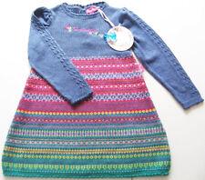 LA Strick Kleid Gr.86 Pampolina NEU m.E Blumen blau rot grün Tunika baby