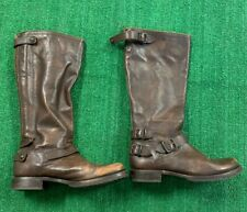 Women's Frye Leather Calf Boot Size 10 Zip