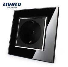 SPAR ANGEBOT!!! SET aus 5 Steckdosen Schwarz Kristall Glas Original LIVOLO
