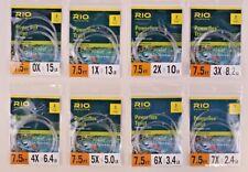 Rio Powerflex Trout 7.5 FT 3 Pack Taper Leader ALL SIZES 0x 1x 2x 3x 4x 5x 6x 7x