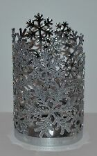 BATH & BODY WORKS SILVER SPARKLY SNOWFLAKES HAND SOAP SLEEVE HOLDER FOAMING DEEP