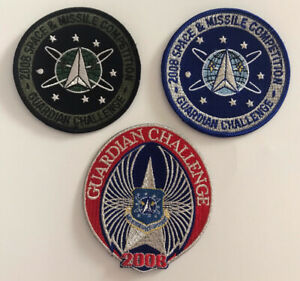 3 Qty Original USAF Guardian Challenge 2008 Space & Missile Competition Patches