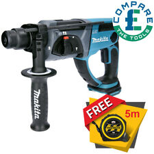 Makita DHR202 18V SDS Plus LXT Hammer Drill With Free Tape Measures 5M/16ft